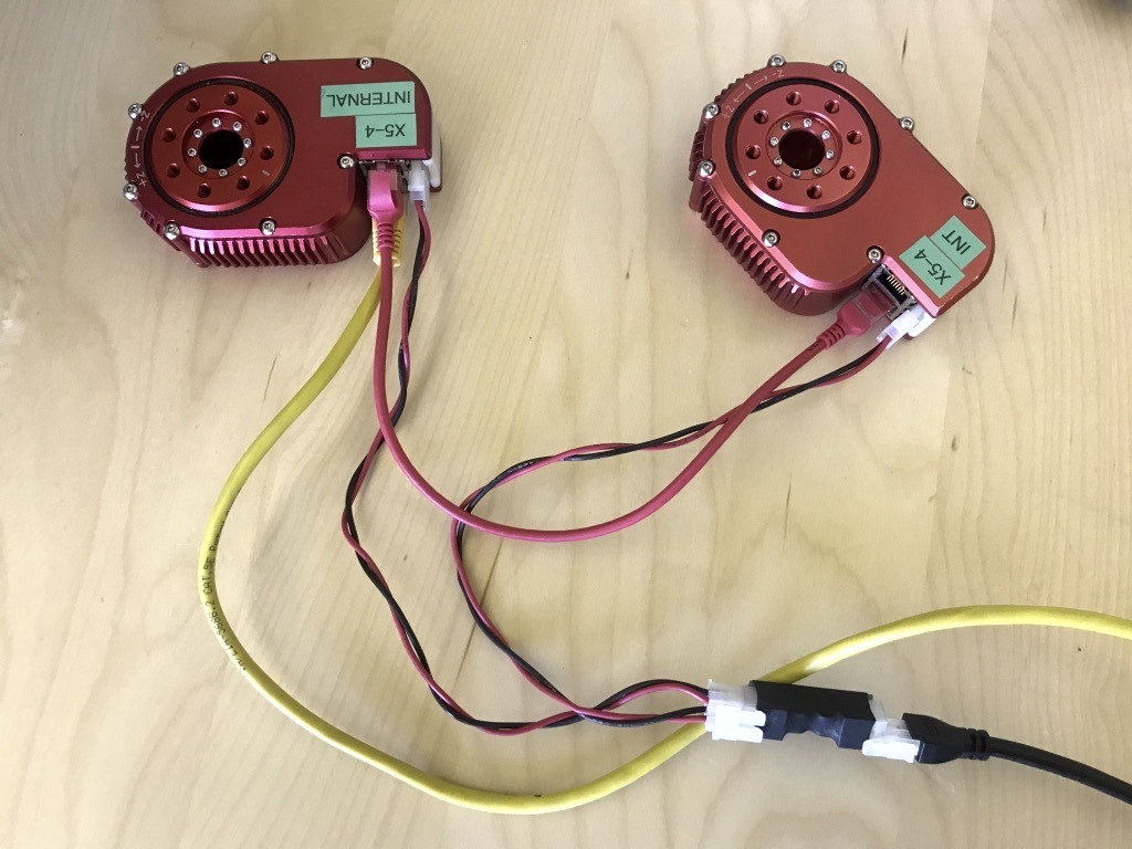 two actuators